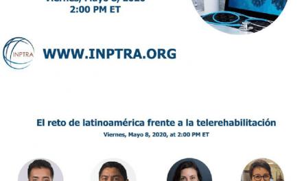 Webinar 8 Mayo | el reto de Latinoamérica frente a la telerehabilitación