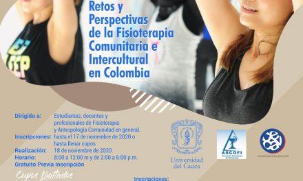 Seminario experiencias retos y perspectivas de la fisioterapia comunitaria e intercultural en Colombia