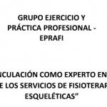 """Convocatoria para vinculación como experto en el proyecto nacional """"Determinación de costos de los servicios de fisioterapia en condiciones Músculo Esqueléticas"""""""