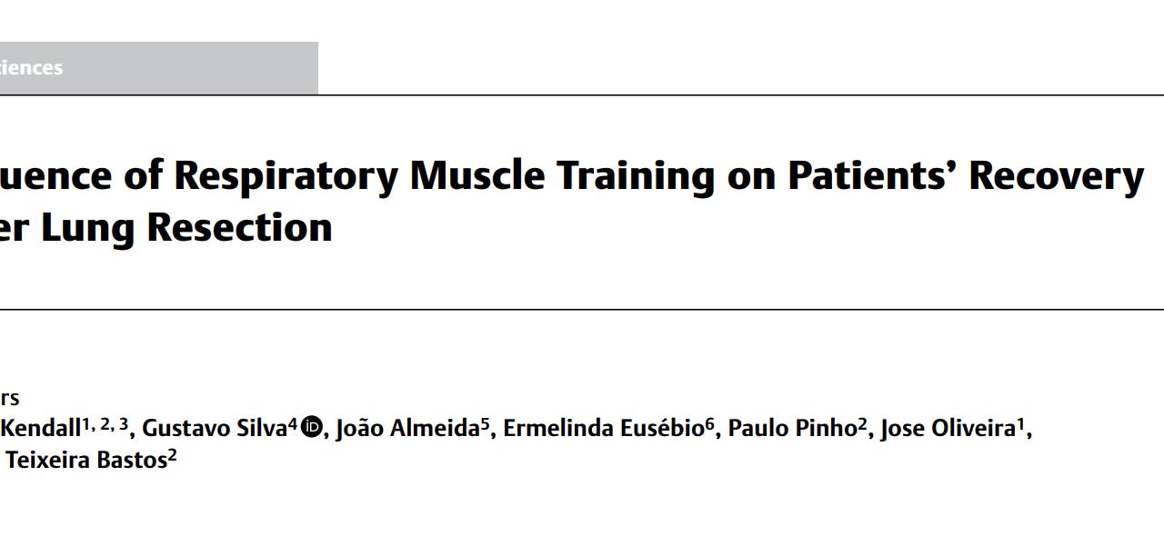 Entrenamiento Muscular Respiratorio en la recuperación de pacientes después de una Resección Pulmonar