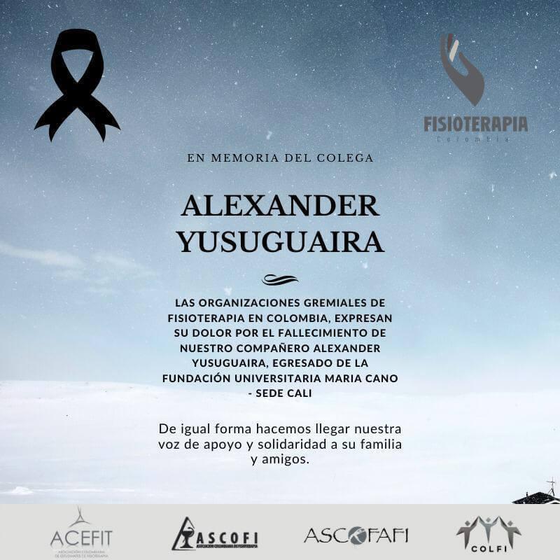 CONDOLENCIAS ALEXANDER YUSUGUAIRA
