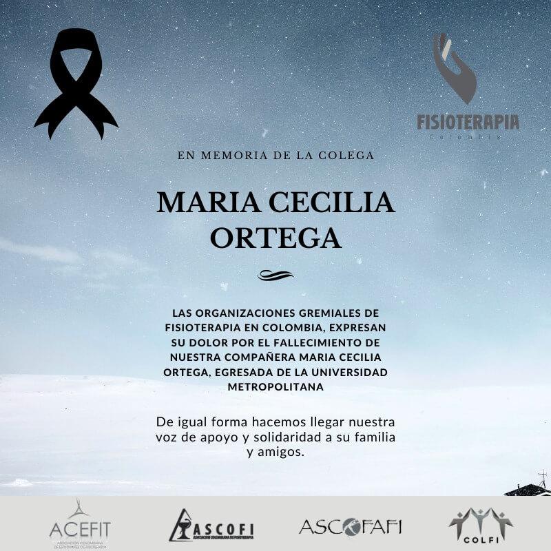 CONDOLENCIAS MARIA CECILIA ORTEGA