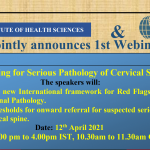 1st Webinar on Screening for Serious Pathology of the Cervical Spine.