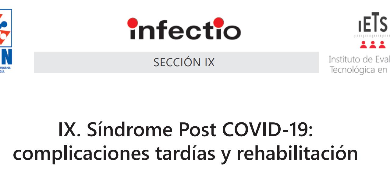 Consenso Nacional: Síndrome Post COVID-19: complicaciones tardías y rehabilitación