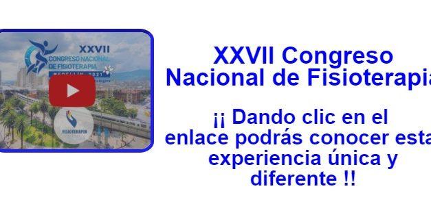 XXVII Congreso Nacional de Fisioterapia