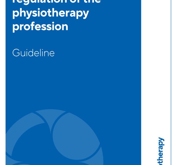 El desarrollo de un sistema de regulación de la profesión de fisioterapia